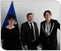 EU Commissioner for Transport Violeta Bulc meets a delegation of politicians to discuss contribution on energy efficiency